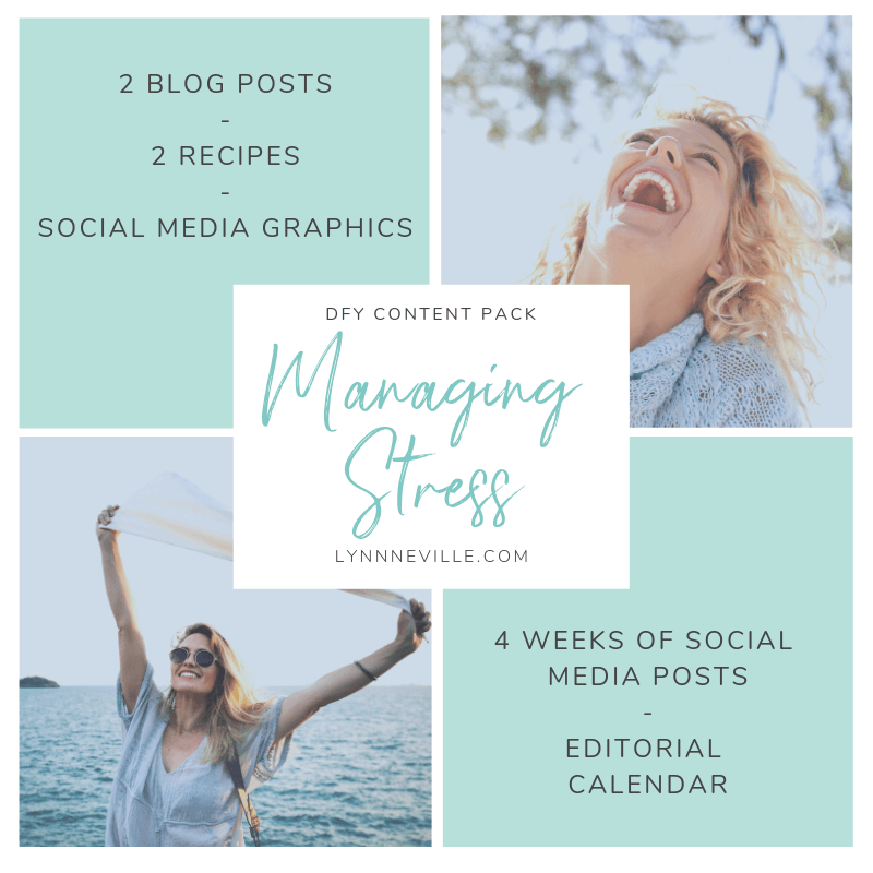 Managing Stress DFY Content Pack