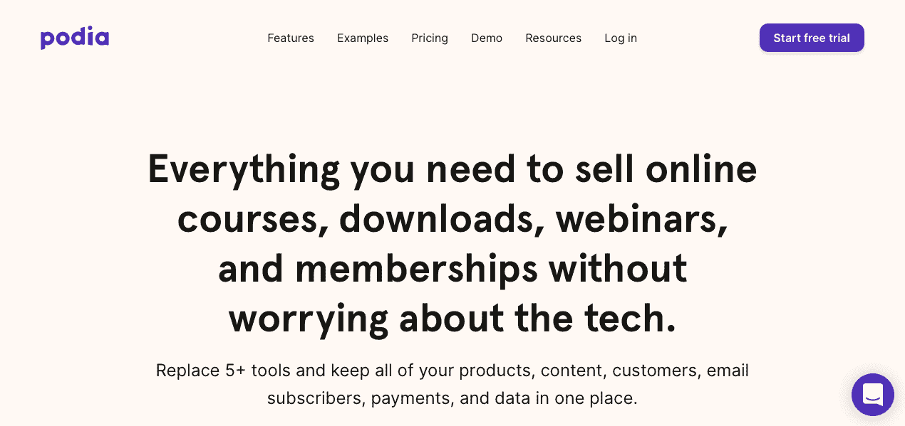 Podia - Top Tools to Grow Your Business