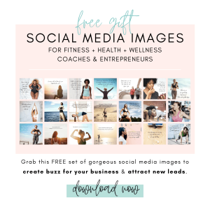 Grab this free gift of fitness, health and wellness social media images