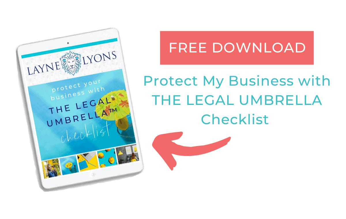 Layne Lyons The Legal Umbrella Checklist